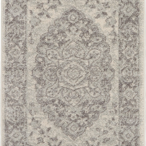 Nourison Tranquil 2'x4' Grey and White Vintage Small Rug