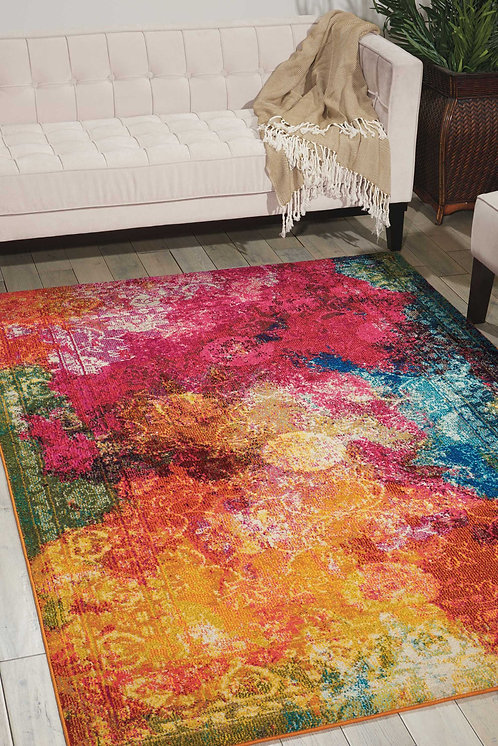 Celestial CES01 Multicolor Colorful Area Rug