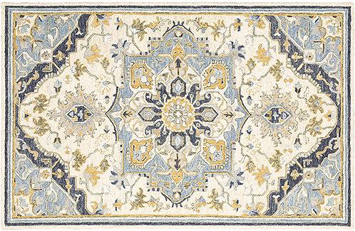 Oriental Weavers Alfresco 28402 Blue - Ivory Area Rug