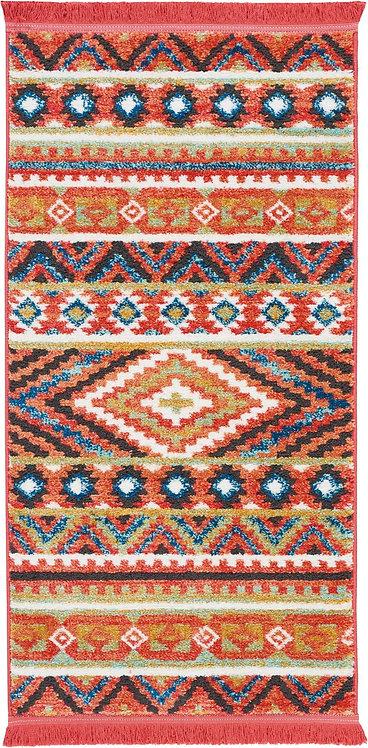 Navajo Orange Multicolor Tribal Area Rug
