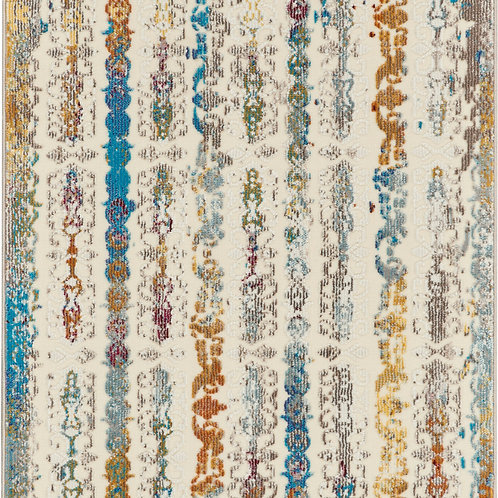 Nourison Radiant RAD02 Multicolor 7' Runner Low-pile Hallway Rug