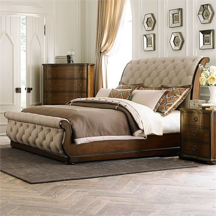 Cotswold Queen Sleigh Bed (545-BR)