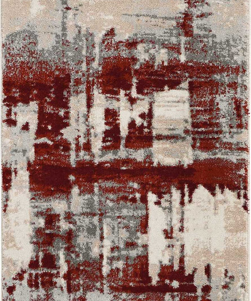 Maxell MAE14 White and Red Rug