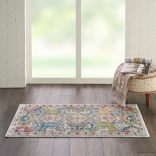 Ankara Global ANR12 Grey Multicolor Persian Area Rug