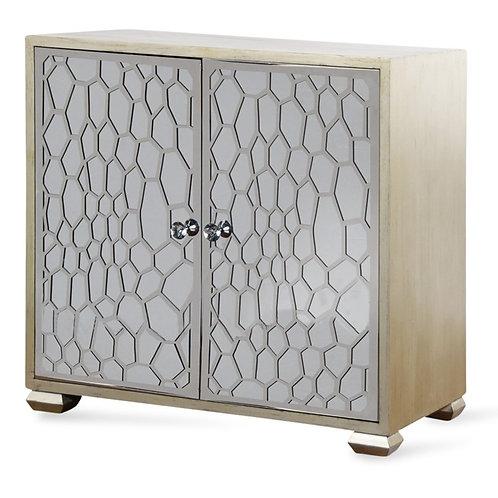 Honeycomb Mirrored Two Door Cabinet