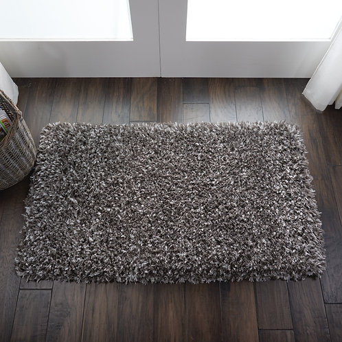 Luxe Shag Charcoal Grey Plush Area Rug