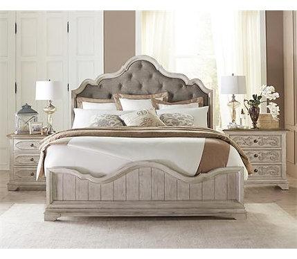 ELIZABETH KING UPHOLSTERED ARCH BED