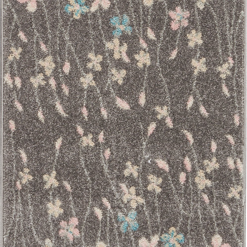 Nourison Tranquil 2'x4' Grey Floral Small Rug