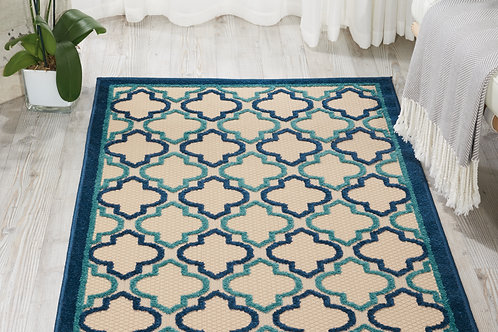 Aloha ALH06 Navy Indoor-outdoor Area Rug