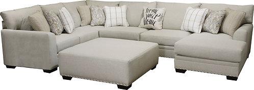 Jackson Middleton 5pc Modular Sectional Living Room Set in Cobblestone/Cement
