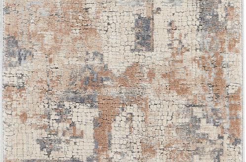 Nourison Rustic Textures RUS06 Beige and Grey 8' Runner  Hallway Rug