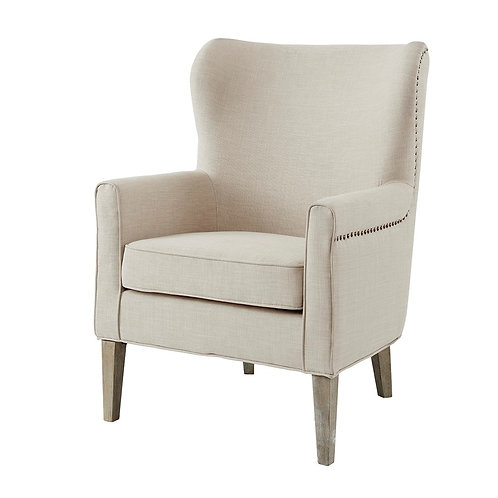 Colette Accent Wingback Chair Natural