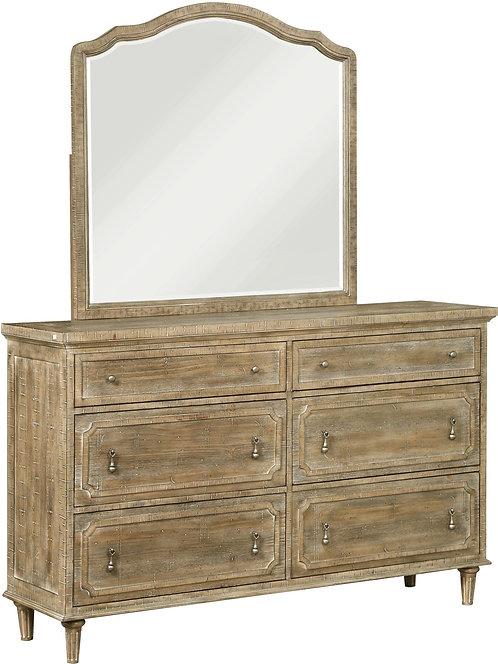 Interlude Sandstone 6 Drawer Dresser