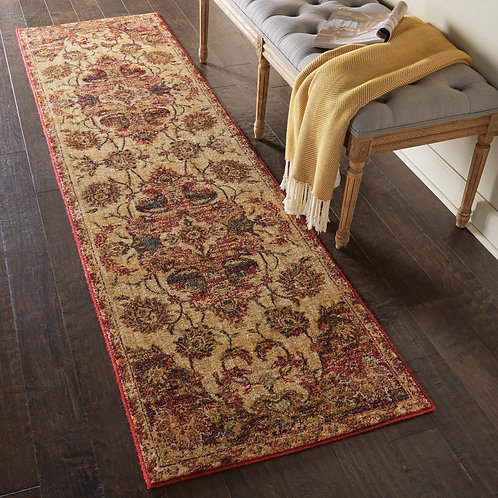 Jewel JEL01 Red and Beige Rug