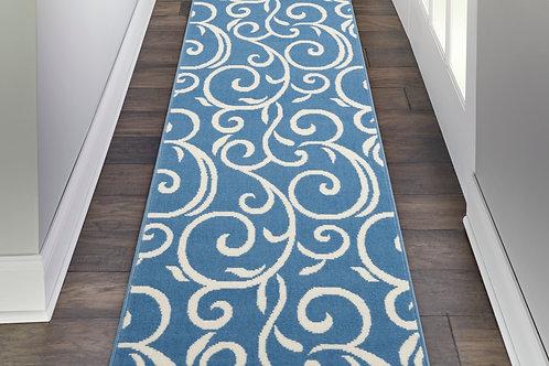 Grafix GRF19 Blue Runner Hallway Rug