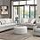 Thumbnail: Venise Fog  U3670-00-13 Sofa W/ 4 Accent Pillows and 1 Kidney Pillow Grey.