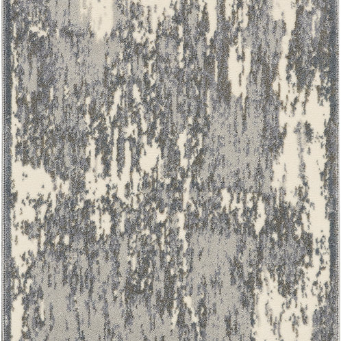 kathy ireland Home Sahara KI392 Charcoal and Ivory 8' Runner  Hallway Rug