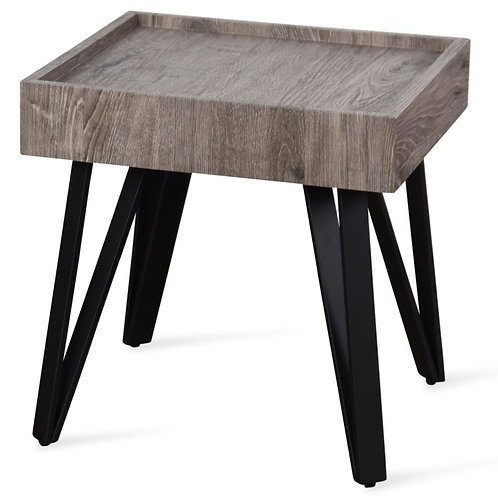 Grey Weathered Wooden Side Table