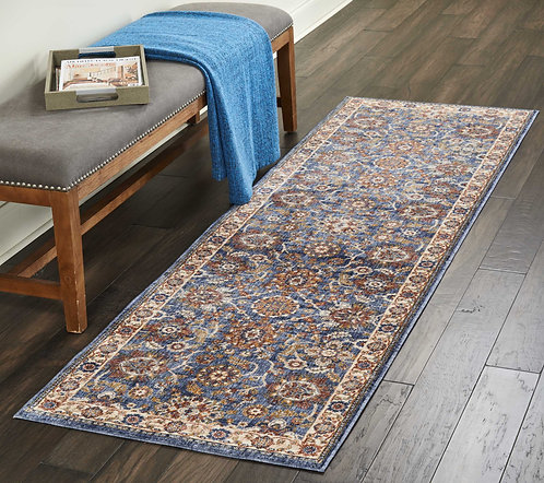 Lagos LAG04 Blue Multicolor Low-pile Rug