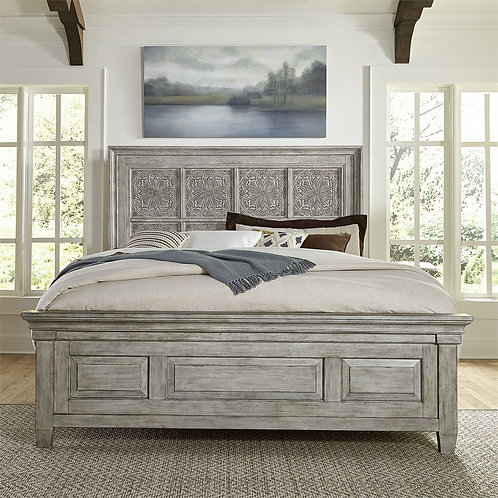 Heartland Transitional King Panel Bed (824-BR)