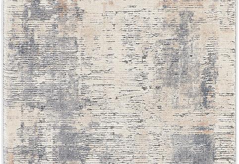 Nourison Rustic Textures RUS05 Beige and Grey 8' Runner  Hallway Rug