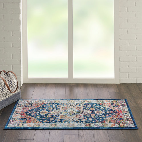 Ankara Global ANR11 Blue and Red Multicolor Persian Area Rug