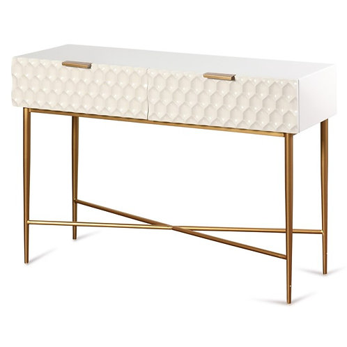 Cream Textured Contemporary Console
