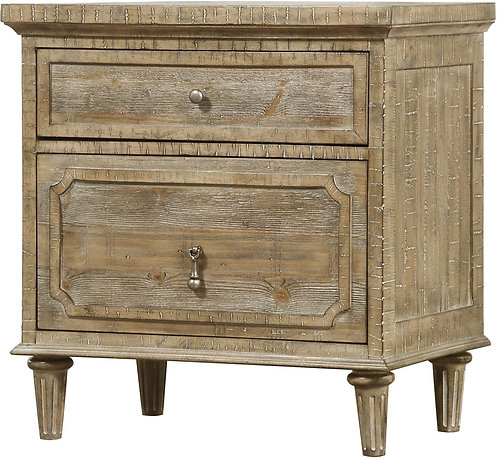 Interlude Sandstone 2 Drawer Nightstand