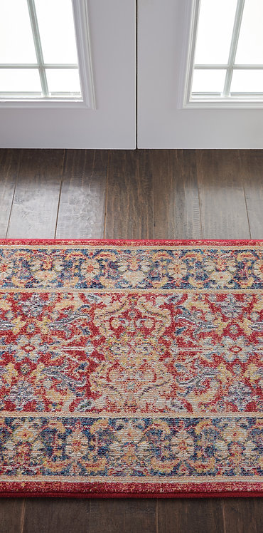 Ankara Global ANR02 Red and Blue Multicolor Persian Area Rug