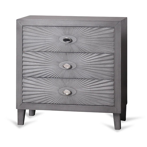 Grey Wooden Starburst Chest