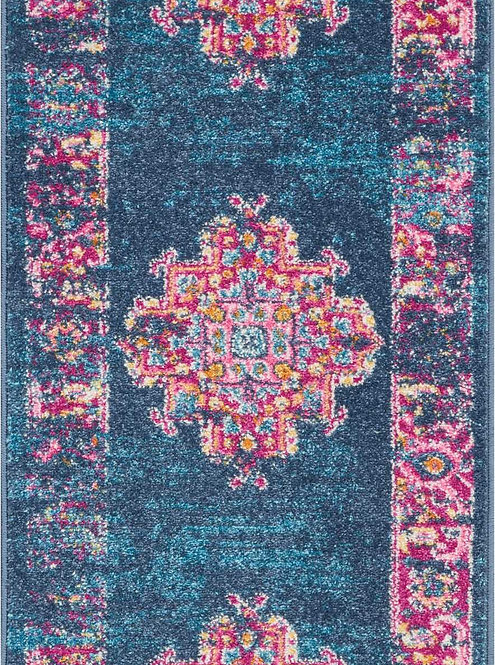 Passion PSN03 Blue and Pink Rug