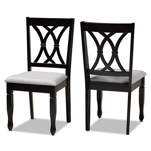RENEAU MODERN AND CONTEMPORARY GREY FABRIC UPHOLSTERED (SET OF 2)
