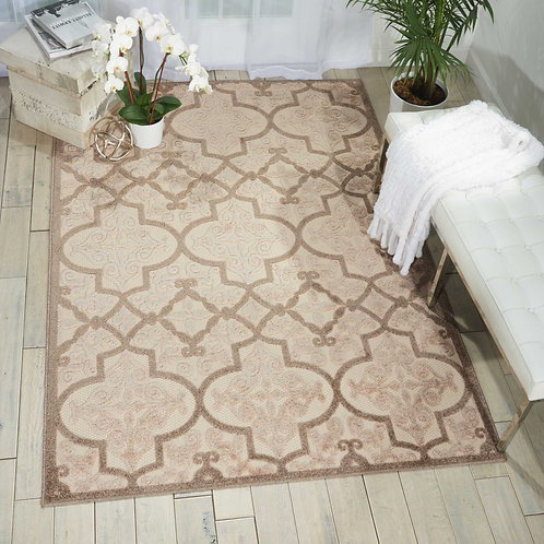 Aloha ALH14 Beige  Indoor-outdoor Area Rug