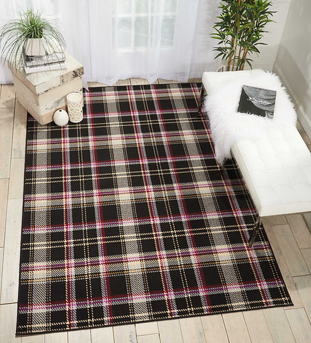 Grafix GRF03 Black and Red Area Rug
