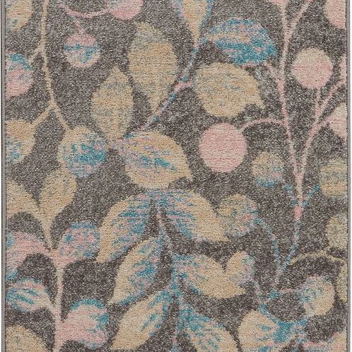 Nourison Tranquil 2'x4' Beige and Grey Botanical Small Rug