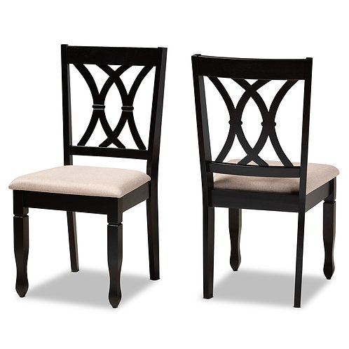 RENEAU MODERN AND CONTEMPORARY SAND FABRIC UPHOLSTERED (SET OF 2)