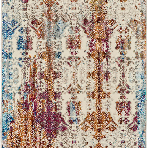 Nourison Radiant RAD04 Red Multicolor 7' Runner Low-pile Hallway Rug