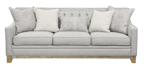 Venise Fog  U3670-00-13 Sofa W/ 4 Accent Pillows and 1 Kidney Pillow Grey.