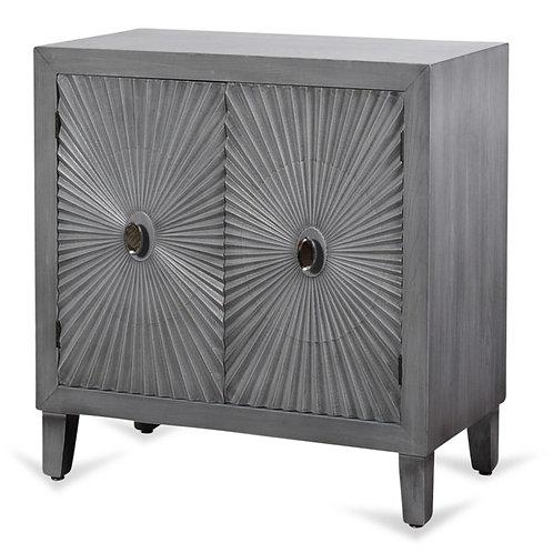 Grey Wooden Starburst Cabinet