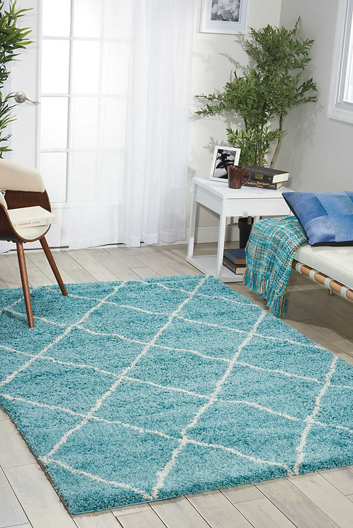 Brisbane BRI03 Blue Area Rug