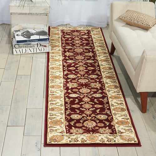 kathy ireland Home Antiquities ANT01 Red 8' Runner  Hallway Rug
