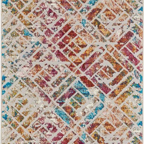 Nourison Radiant RAD09 Multicolor 7' Runner Low-pile Hallway Rug