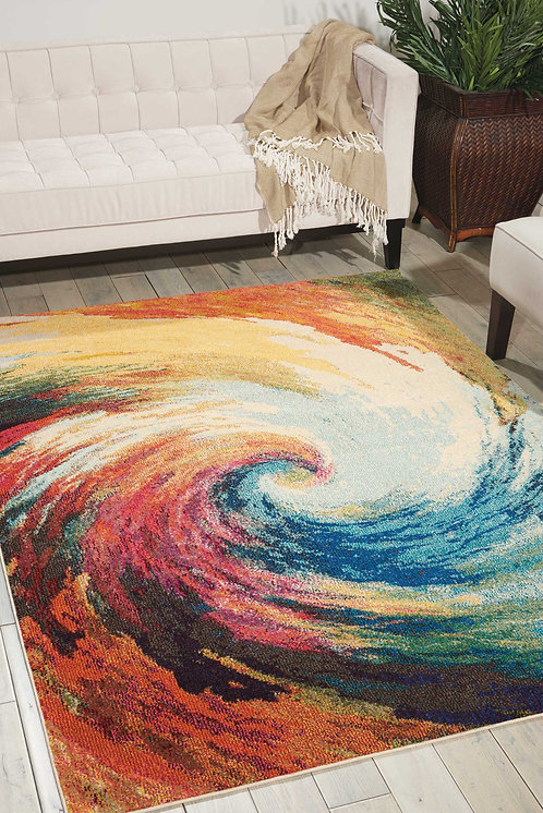 Celestial CES07 Multicolor Colorful Area Rug