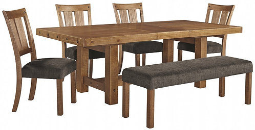 Tamilo - Dining Table and 4 Chairs and Bench