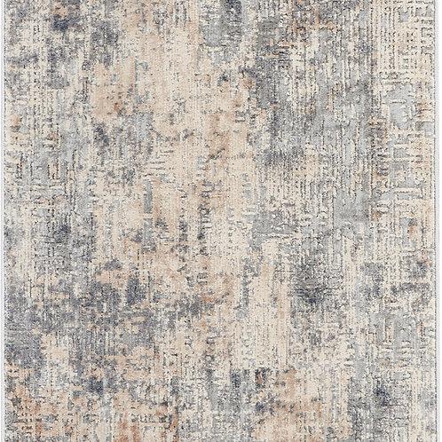 Nourison Rustic Textures RUS01 Grey and Beige 8' Runner  Hallway Rug