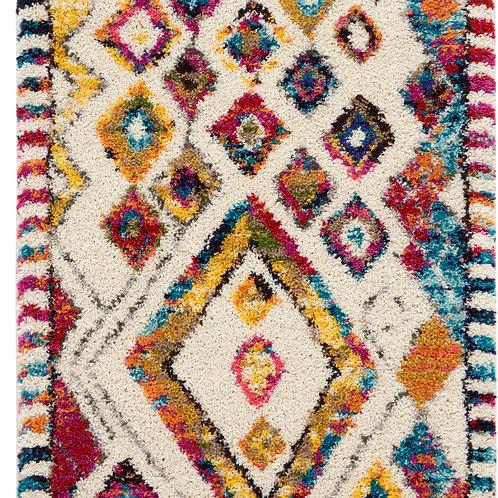 Nomad White Multicolor Colorful Area Rug