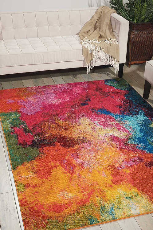 Celestial CES04 Multicolor Colorful Area Rug