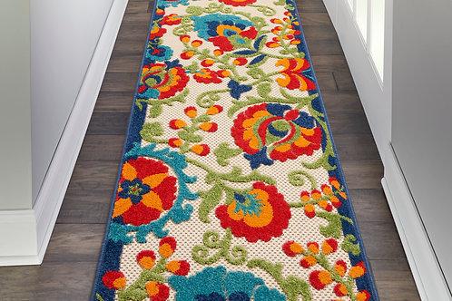 Aloha Runner Multicolor Hallway   Area Rug