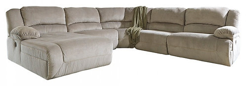 Toletta - 5-Piece Reclining Sectional with Chaise and Power
