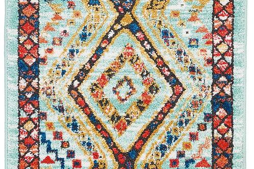 Navajo Blue Multicolor Tribal Area Rug